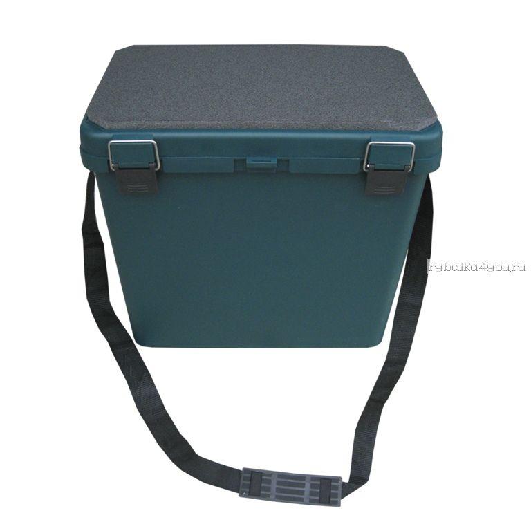 Ящик зимний односекционный ТОНАР 19 л, зеленый (арт.36745)