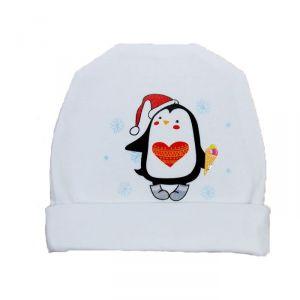 Белая шапочка для малышей