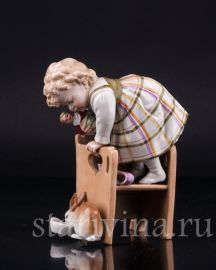 Девочка и кролик, Muller & Co, Volkstedt, Германия, нач.20 в