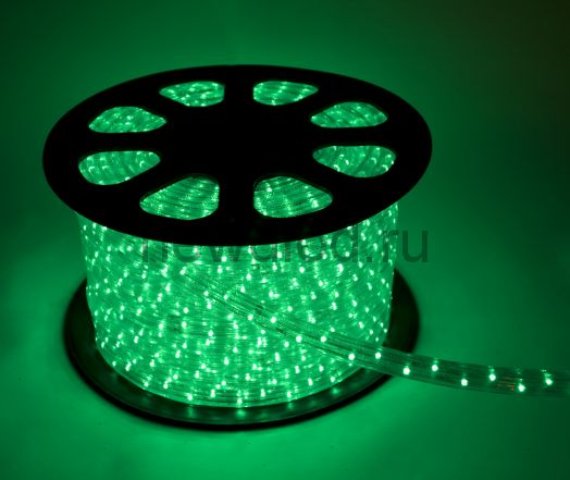 Дюралайт LED Зеленый, квадратный, 3-жилы