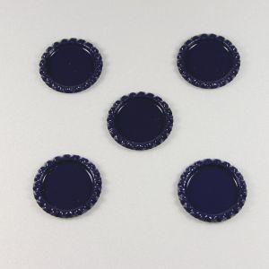 Крышка. материал - металл. внутренний диаметр 25 мм. наружный 31 мм, цвет №46 . (1 уп = 24 шт)