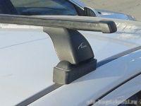 Багажник на крышу Opel Astra H, Lux, прямоугольные стальные дуги