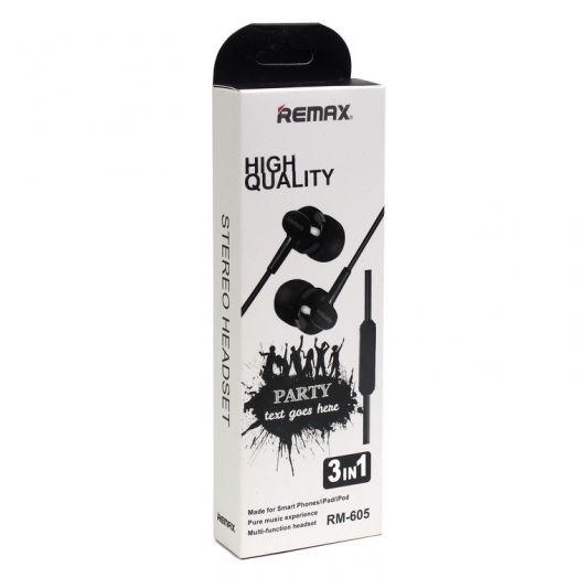 Наушники вакуумные Remax RM-605