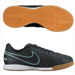 Детские футзалки Nike Tiempo Legend VI IC чёрные