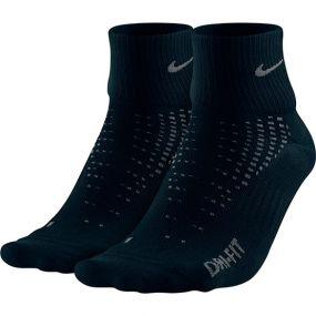 Носки Nike Running Anti-Blister Lightweight Quarter Socks 2 Pairs чёрные