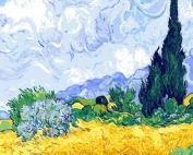 """Раскраска по номерам Ван Гог """"Пшеничное поле с кипарисами"""""""