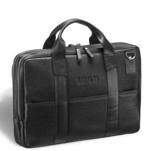Деловая сумка с двумя автономными отделениями Brialdi Grand Locke (Гранд Локк) black