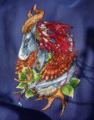 Схема для вышивки крестом Ловец снов - Конь. Отшив.