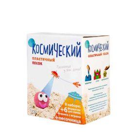 Космический песок Песочница+Формочки (6 шт) Классический 1 кг(коробка)