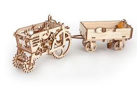 Конструктор 3D-пазл Ugears - Прицеп к трактору