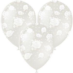Прозрачные с Розами латексные шары с гелием