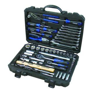 """Набор инструментов 1/4"""" и 1/2"""" 6 гр. Forsage 4772-5, 77 предметов."""