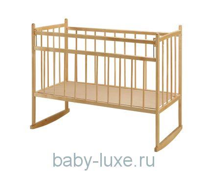 Кроватка детская Мишутка - 13 колесо/качалка