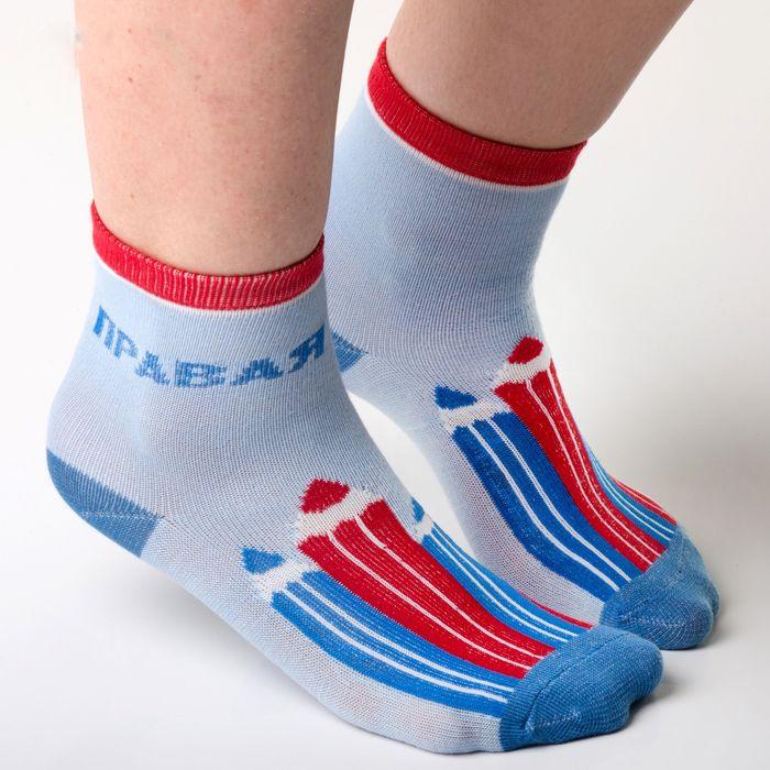 Голубые детские носки Карандашики для малыша 0-12 месяцев