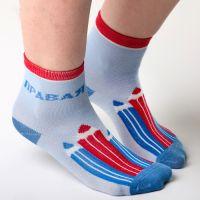 Голубые детские носки
