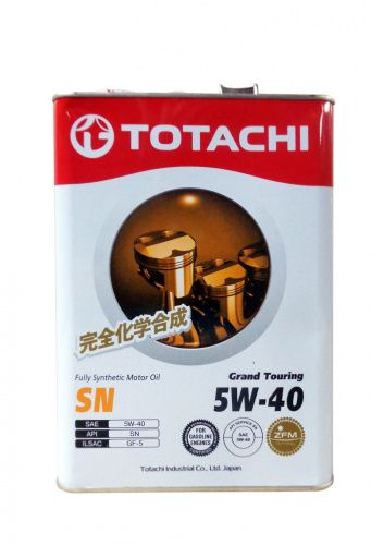 Моторное масло TOTACHI Grand Touring Fully Synthetic SN SAE 5W-40 (4л)