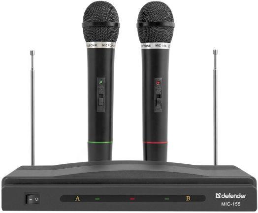 Караоке набор беспроводных микрофонов Defender MIC-155