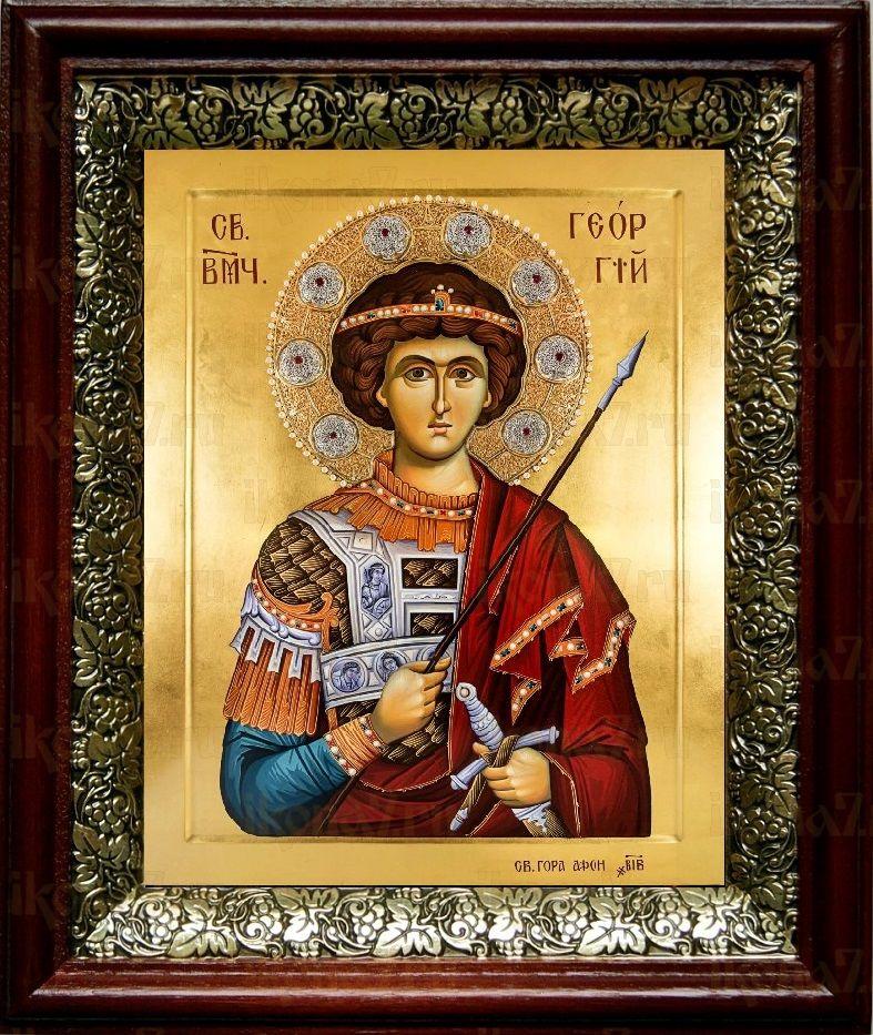 Георгий Победоносец (19х22), темный киот