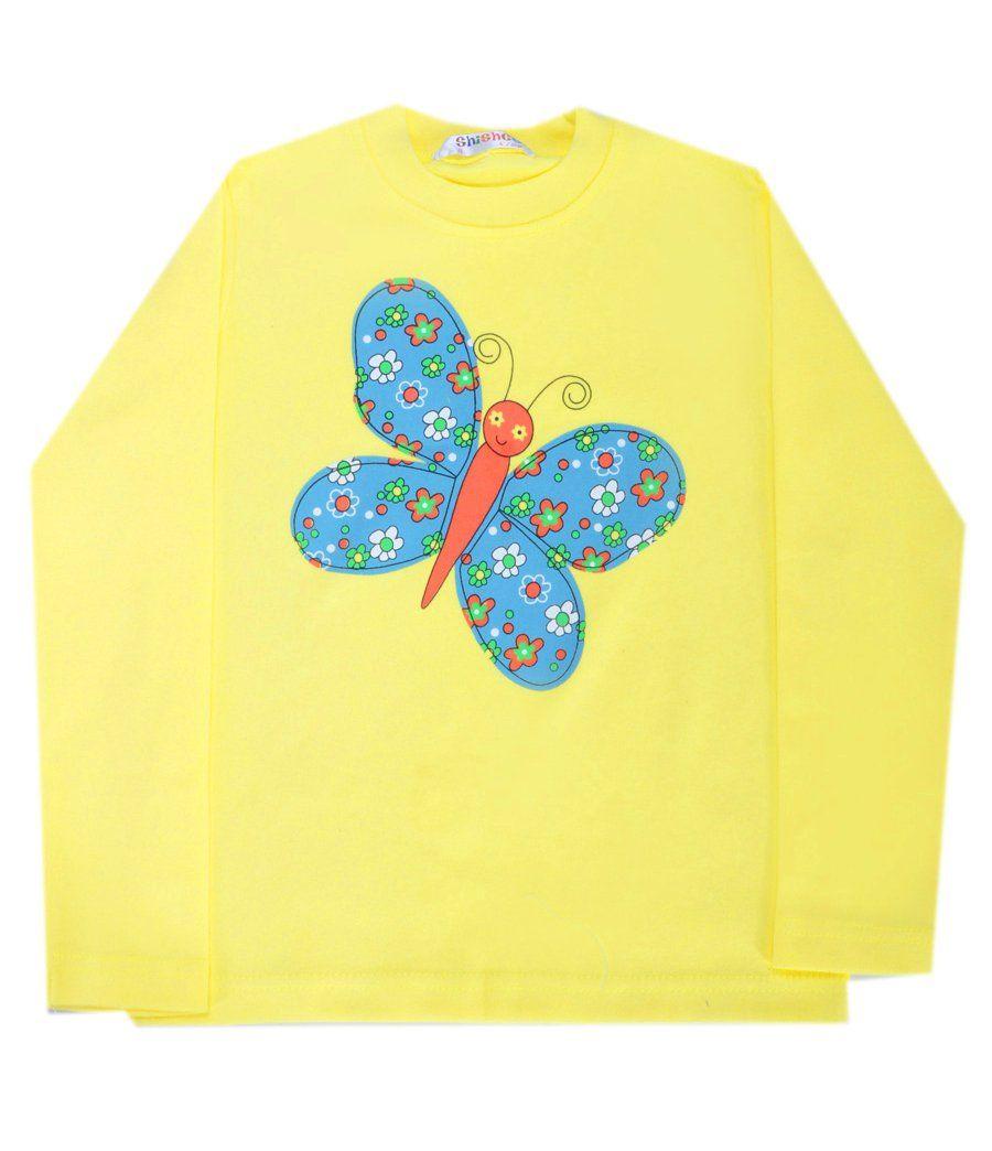 Лонгслив Бабочка для девочки 12-18 месяцев