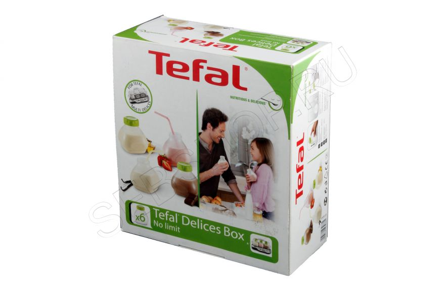 Набор бутылочек для питьевого йогурта Tefal (Тефаль) Multidelice 6 шт., XF102032