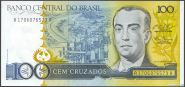 Бразилия - 100 Крузадос 1987 UNC