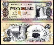 Гайана - 20 Долларов 2009 UNC