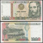 Перу 1000 инти 1988 года UNC