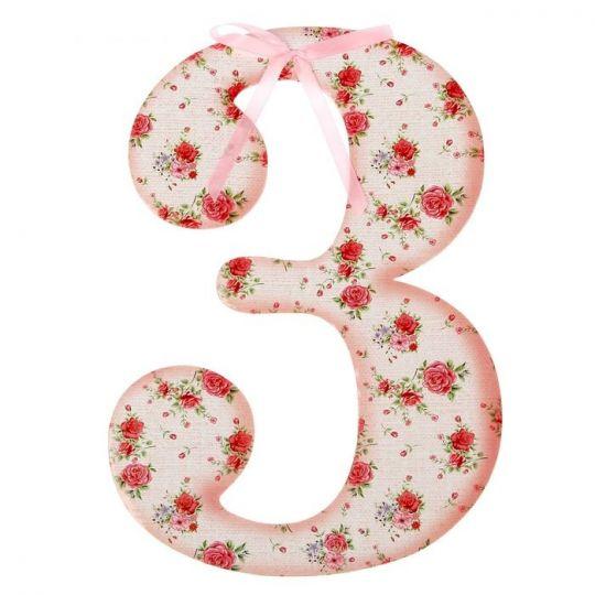 Цифра 3 розовая для фотосессии