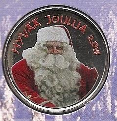 Веселого Рождества набор евро Финляндия 2014 BU (8 монет+жетон с Дедом Морозом)