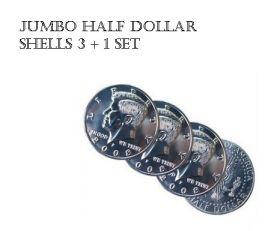 Jumbo Half Dollar Shells 3 + 1 Set