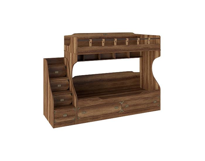 Кровать «Навигатор» двухъярусная с лестницей