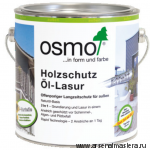 Защитное масло-лазурь для древесины с эффектом серебра Osmo Holzschutz Ol-Lasur Effekt 1140 Агат серебро 2,5 л