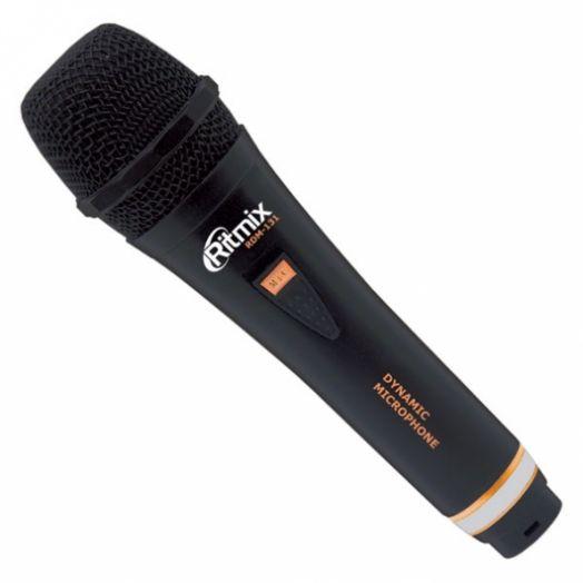Караоке Микрофон Ritmix RDM-131 черный (3 м.)