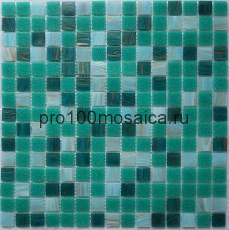Aquamarine  стекло. Мозаика 20*20 серия GOLDEN, размер, мм: 327*327*4 (Bonaparte)