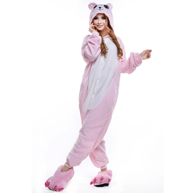 Пижама Кигуруми Мышь Розовая_01