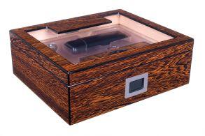 Хьюмидор Lubinski на 60 сигар со стеклом и подарочным набором, Железное дерево