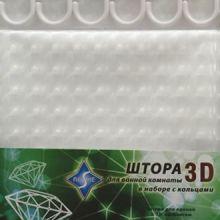 Шторка для ванны 180х180 ROSHE белый кристал 3D 045