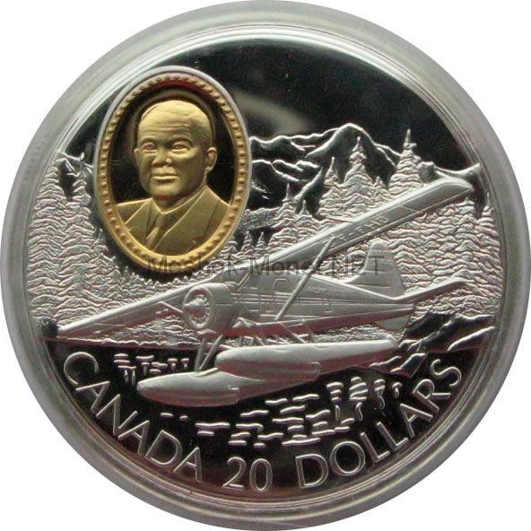 Канада 20 долларов 1991 г. Герои авиации Philip C. Garratt
