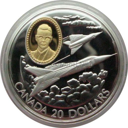 Канада 20 долларов 1996 г. Герои авиации. CF-105 Arrow
