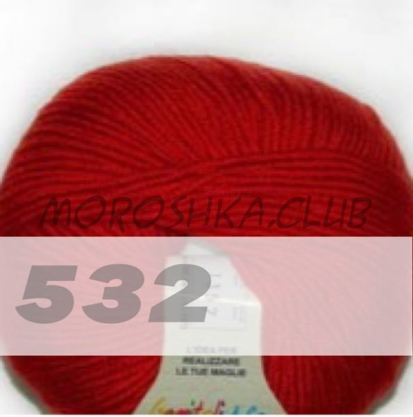 Красный Martine BBB (цвет 532), упаковка 10 мотков