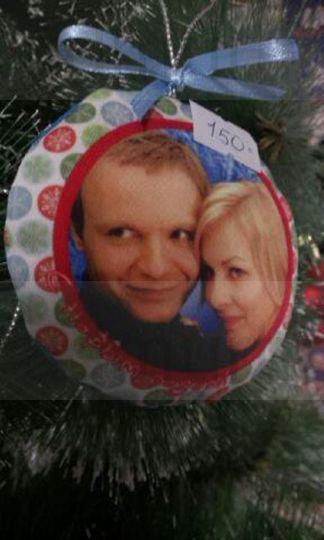 Шарик мягкий новогодний на елку