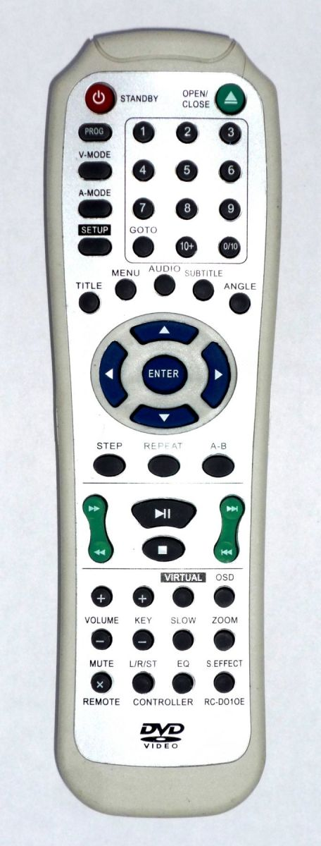 Elenberg RC-D010E , AKAI RC-D010E (DV-P4760KDSM, DV-P4765KDSM, DVDP-2405, DVDP-2430, DVDP-2440, DVDP-2445)