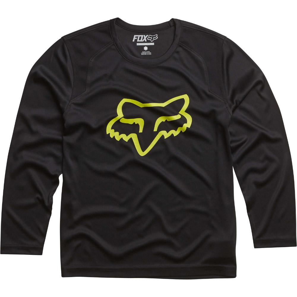 Fox - Youth Formoso LS футболка подростковая, черная