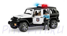 Bruder. Брудер Внедорожник Jeep Wrangler Unlimited Rubicon Полиция с фигуркой