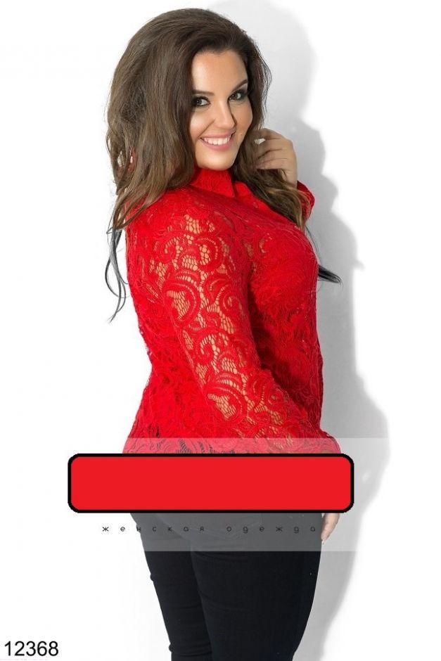 Рубашка батал красный