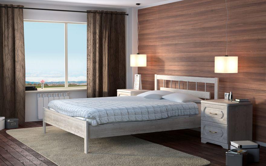 Кровать Троя 1 (массив бука)   DreamLine