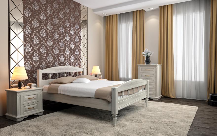 Кровать Флоренция (массив ясеня)   DreamLine