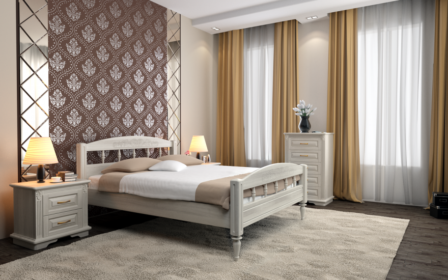 Кровать Флоренция (массив ясеня) | DreamLine