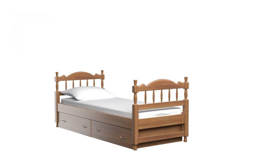 Детская кровать Юниор с ящиками (массив бука)   DreamLine