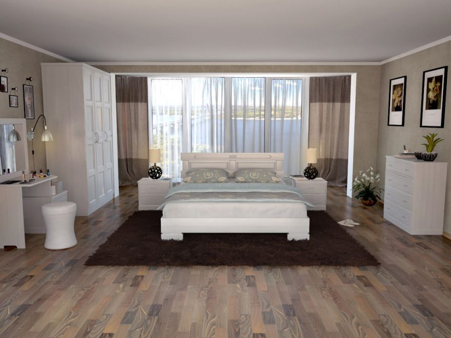 Кровать Варна (массив бука) | DreamLine